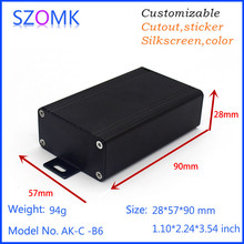 1 pc, 28*57*90mm wall mounting extruded aluminum enclosure project box Black color tube amplifier chassis aluminum box for pcb