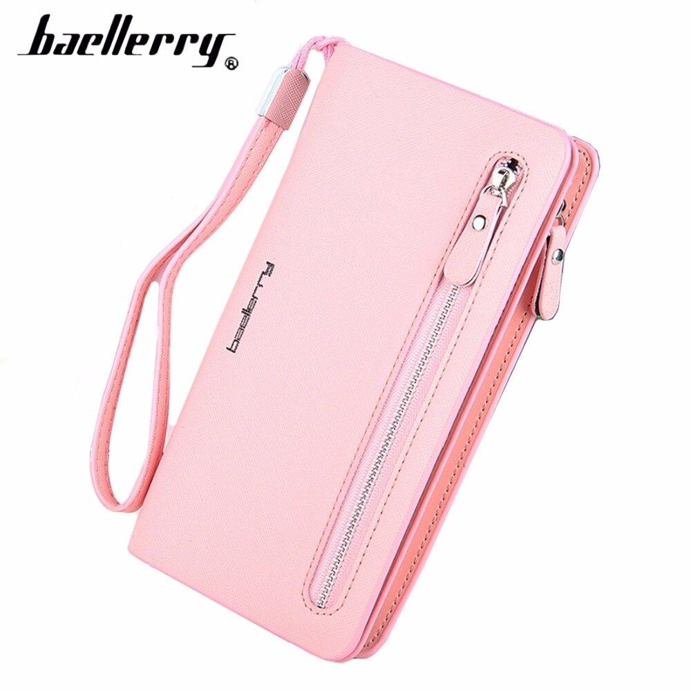 Baellerry Card holder Leather Wallet Women Long Design Quality Passport Cover Casual Women Purse Zipper Multi-function Wallet