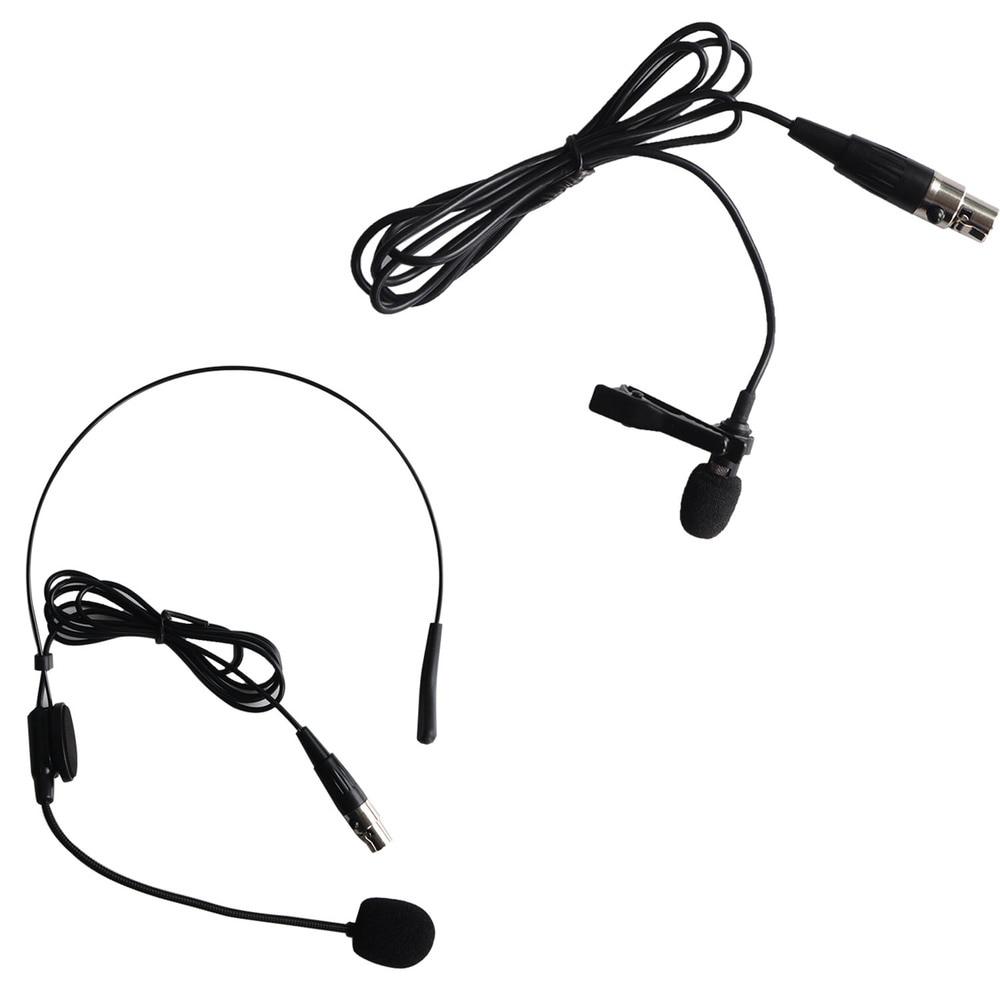 FREEBOSS KU-22H2 UHF Wireless Microphone System DJ Karaoke 2 Lapel 2 Headset microphone (2 Bodypack Transmitter)