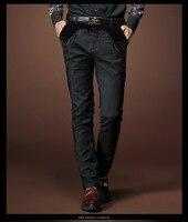 شحن مجاني جديد أزياء الرجال السراويل الرجالية الشتاء خياطة التطريز الأعمال عارضة الذكور ضئيلة السراويل 518002 للبيع