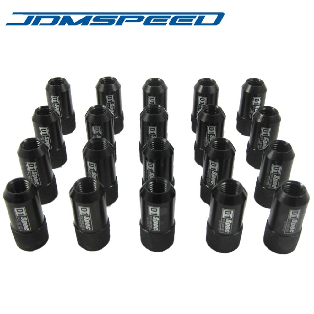 20pcs Aodhan Xt51 Chrome Steel Jdm Extended Lug Nuts 12X1.25 Wrx 240Sx S14 Sti