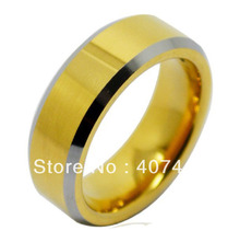 Free Shipping Cheap Price USA Russia Brazil Hot Sales 7MM Silver Beveled Gold Bridal Tungsten Carbide Wedding Ring US size 6-13