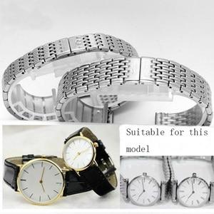 Image 5 - Watch accessories ladies stainless steel strap For Longines stainless steel strap mens sports waterproof silver strap 13mm 18mm