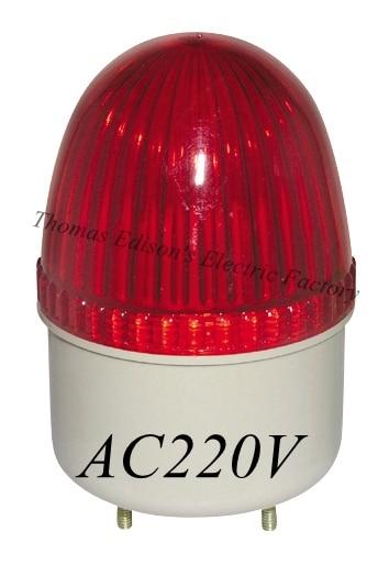 цена на AC 220V LTE-2071 mini traffic sign strobe flash light Bulb emergency warning light siren light