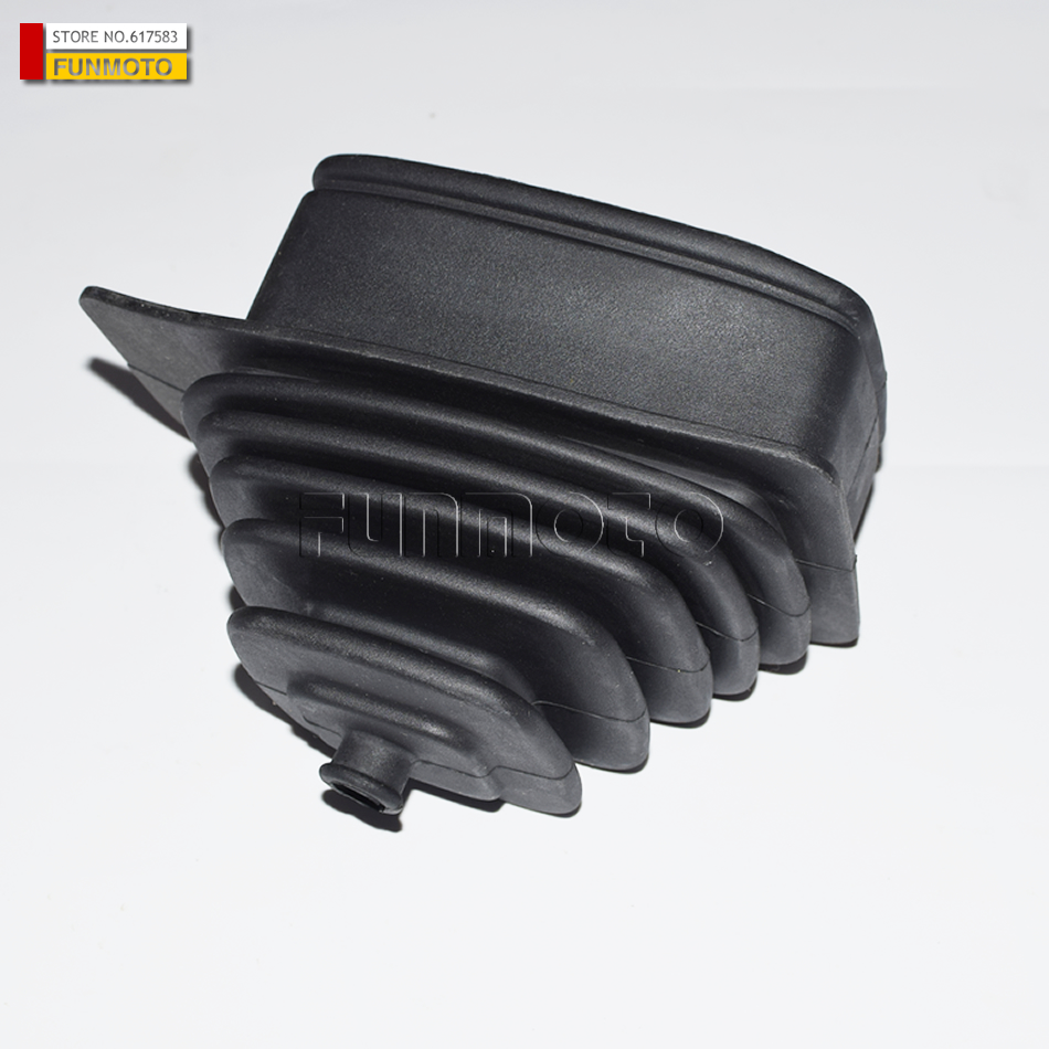 gearshift dustproof cover of HISUN500/STELS 500 ATV parts number is 23518-107-0000