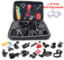 FeoconT Accessories Set Kit 30 in 1 for Gopro Hero 4 3+ 3 2 Bag Monopod Head Chest Strap