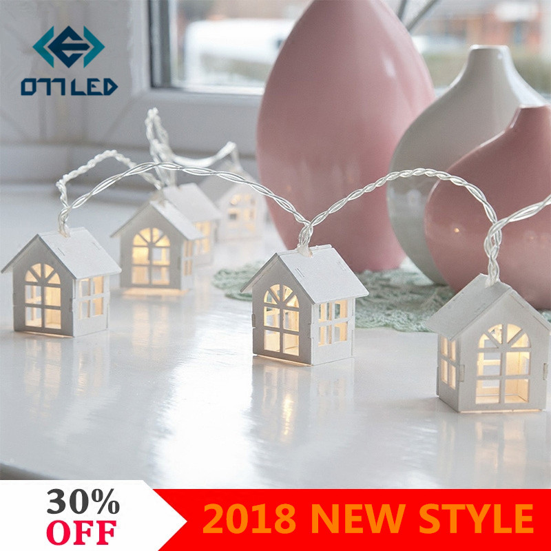 Loving Heart Led String Light 1.5m/3m Wood House Shaped Fairy Lights for Garland Wedding Party Indoor Decoration Novelty Lamp