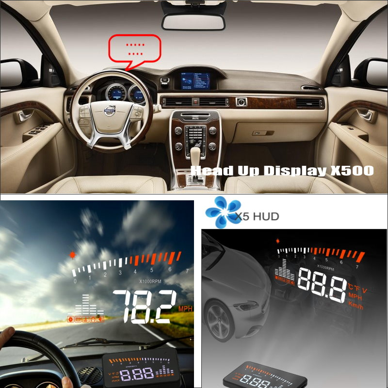 Car Computer Screen Display Projector Refkecting Windshield For Volvo C70 S40 S60 S70 S80 S90 V40 V70 V90 XC70 - Driving Screen