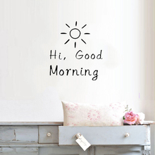 Hi Good Morning Sunshine Wall Sticker Bedroom Livingroom Decoration Beauty Inspriation Poster Mural Vinyl Art Design Decor W290 стоимость