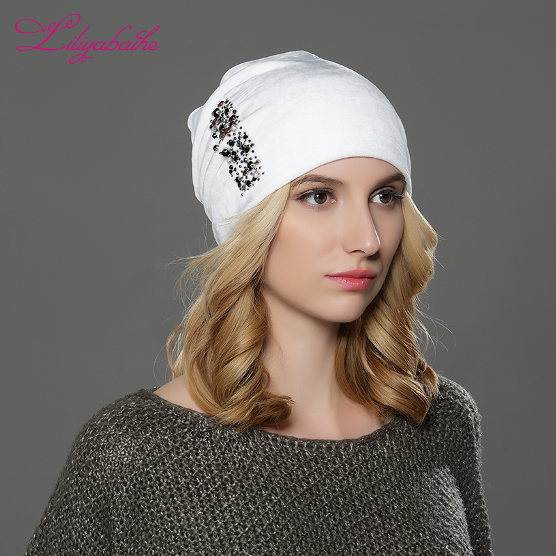 LILIYABAIHE Women Autumn And Winter Hat Ladies Cat Girls Hats For Women   Skullies     Beanies   Fluff Caps Touca new style Caps