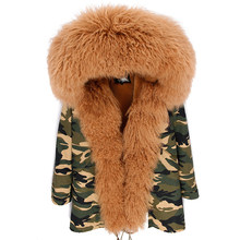 Fur Parka Hooded-Coat Winter Jackets Mongolia Luxurious Outwear Lamb Brand Sheep Top-Quality