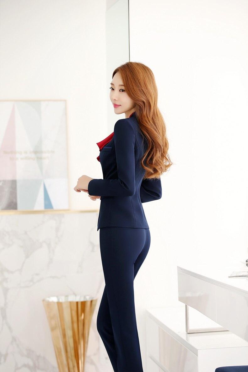 f54cbe1f59 Formalne jednolite wzornictwo profesjonalne urząd pracy nosić garnitury z  kurtki i spodnie jesienne zimowe spodnie damskie spodnie zestaw w Formalne  ...