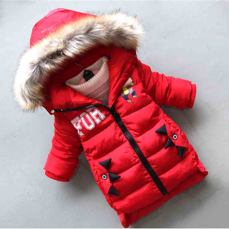 BibiCola 2018 New Children Winter Jacket For Boys Fashion Hooded Thick Warm Down Cotton Coats Boy Long Section Coat Parka 2017 new winter women hooded outerwear parka long warm thick coats female jacket wadded plus size cotton coat xt0230