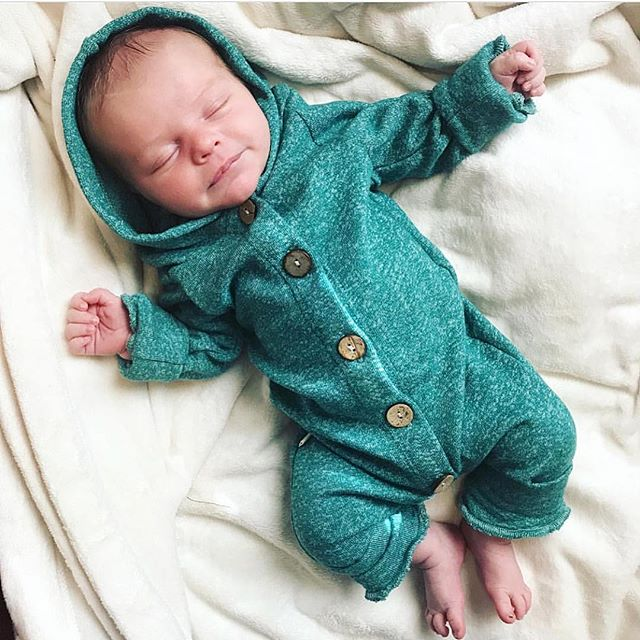 HTB1waUKMNTpK1RjSZFKq6y2wXXa2 2019 Children Spring Autumn Clothing Baby Kids Boys Girls Infant Hooded Solid Romper Jumpsuit Long Sleeve Clothes Outfits 0-24M
