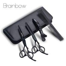 Brainbow 6.0 Japanกรรไกรตัดผมมืออาชีพตัดผมบางกรรไกรตัดผมกรรไกรตัดผมชุดผมจัดแต่งทรงผมเครื่องมือ