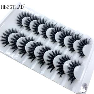 Image 5 - HBZGTLAD 5/8 /10 Pairs 3D Mink Hair False Eyelashes Natural/Thick Long Eye Lashes Wispy Makeup Beauty Extension Tools