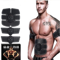 Electric Abdominal Muscle Trainer Pad Ems Body Massager Stimulator Tummy Tuck Training GYM Sports Exercise Tools