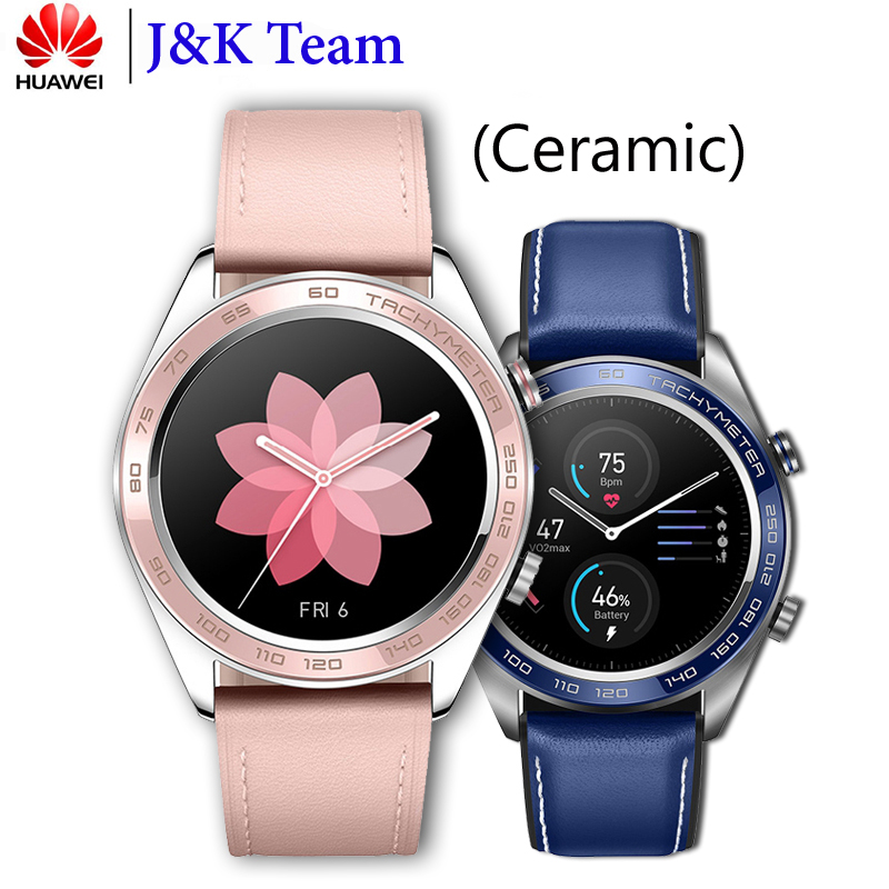 Huawei Honor Watch Dream ceramic face smartWatch NFC GPS 5ATM WaterProof Heart Rate Tracker Sleep Tracker Working 7 Days-in Smart Watches from Consumer Electronics    1