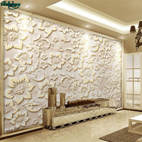 Beibehang Large Custom Wallpapers European Pattern Relief Stone Pattern Stone Marble Living Room Background Wall Murals