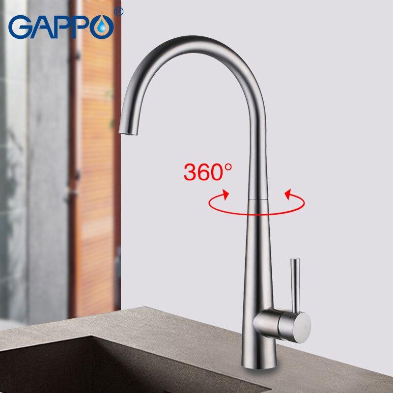 GAPPO смеситель для кухни, латунный водопроводный кран для кухни, кран для раковины, водопроводный смеситель, краны для кухни, краны для крана на бортике|Смесители для кухни|   | АлиЭкспресс