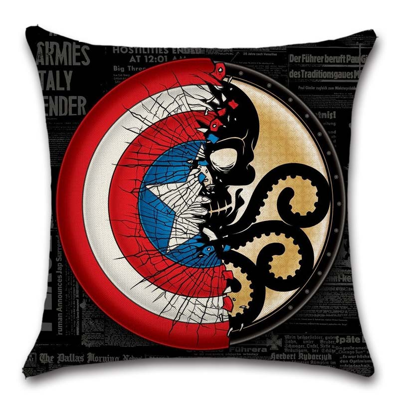 Amazing Hydra And Captain America Shield Sign Cushion Cover Decor Chair Seat Sofa Decoration Home Kids Bedroom T Friend Pillow Case Pabps2019 Chair Design Images Pabps2019Com