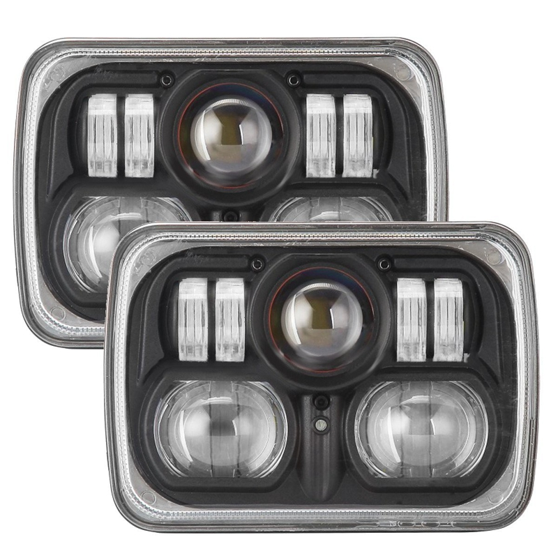 5 x7 inch 6 x7 inch 54w Led Headlights for Jeep Wrangler YJ Cherokee XJ H6054 H5054 H6054LL 69822 6052 6053 with High Low Beam 5 x7 6 x7 high low beam led headlights for jeep wrangler yj cherokee xj h6054 h5054 h6054ll 69822 6052 6053 with angel eye