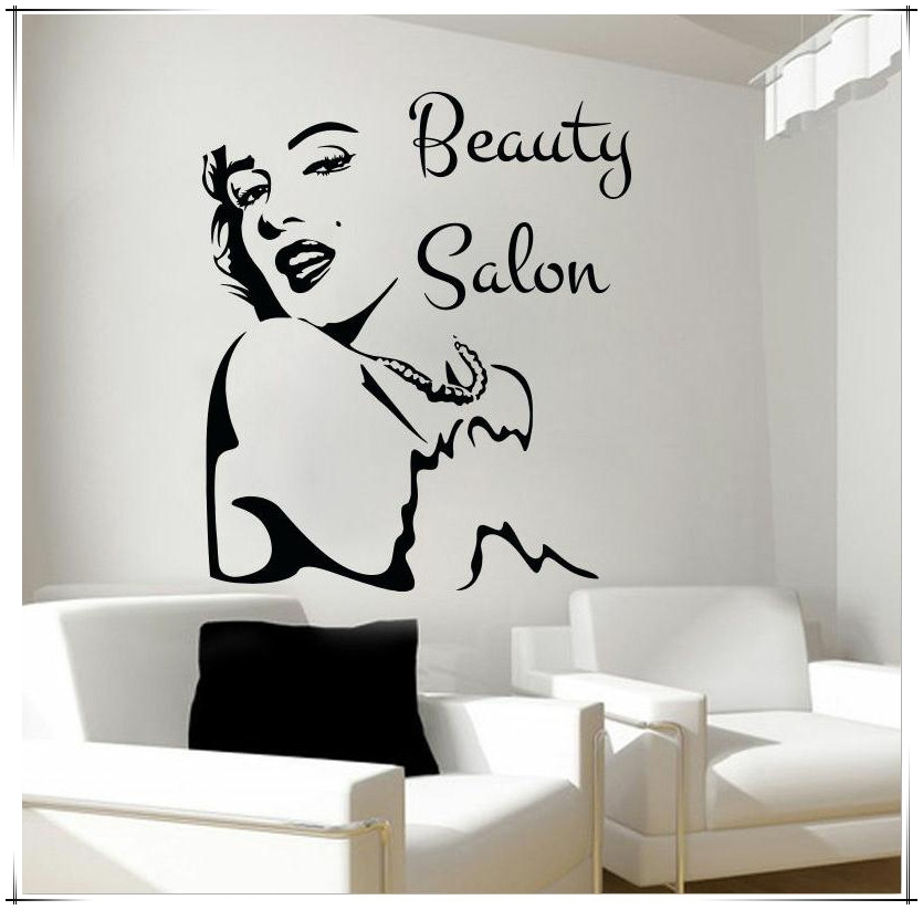 new Design Beauty Salon Removable wall stickers Vinyl ...