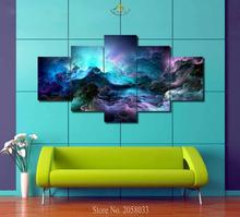 3-4-5 Pieces Abstract Cloud Modern Wall Art Pictures HD Printed Canvas Painting Modular Paints Home Decoration