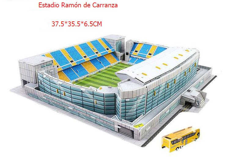 Klasyczny papier układanki atletico madryt 3D Puzzle architektura Stadio francja Parc des Princes stadionów piłkarskich zabawki modele