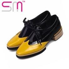 แฟชั่นแพทช์สีผู้หญิงปั๊มฤดูใบไม้ผลิลูกไม้ขึ้นปั๊มส้นเท้าชี้ตารางแพลตฟอร์มรองเท้าผู้หญิงขนาด34-43วินเทจรองเท้า