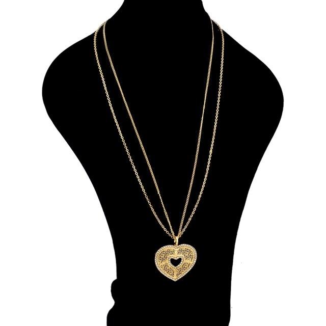 Chicvie love длинные золотистые теплые подвески и ожерелья для
