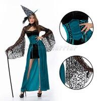 Хэллоуин маска ведьма вампир зомби Косплэй призрак невесты Черный Ангел Костюмы сексуальное платье шляпа Queen партия производительности шо...