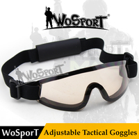 WoSporT Tactical Impact Resistance Riding Motorcycle Cycling Glasses Military Shooting Goggle Wargame Glasses