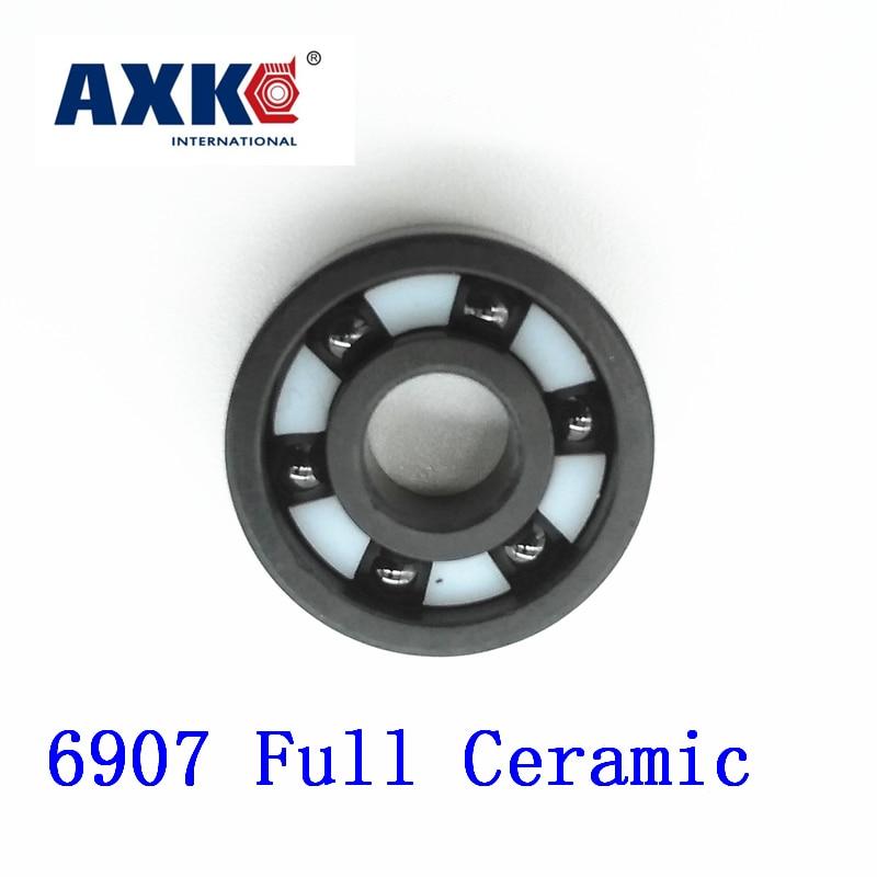 AXK 6907 Full Ceramic Bearing ( 1 PC ) 35*55*10 mm Si3N4 Material 6907CE All Silicon Nitride Ceramic 6907 Ball Bearings