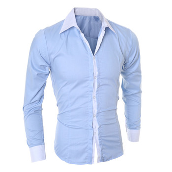 2018 Mens Geometric  Personality Men's Casual Slim Long-sleeved Shirt Top Blouse Business Brand  Blouse Dropshipping 1J18* 3
