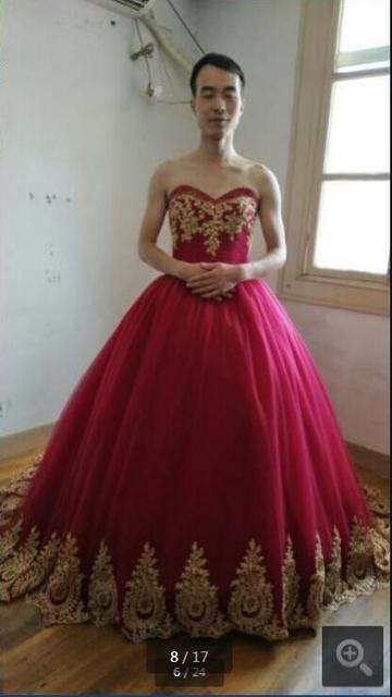 4a85b87c9c13 2017 latest style burgundy ball gown real photo prom dress gold lace  appliques court train prom