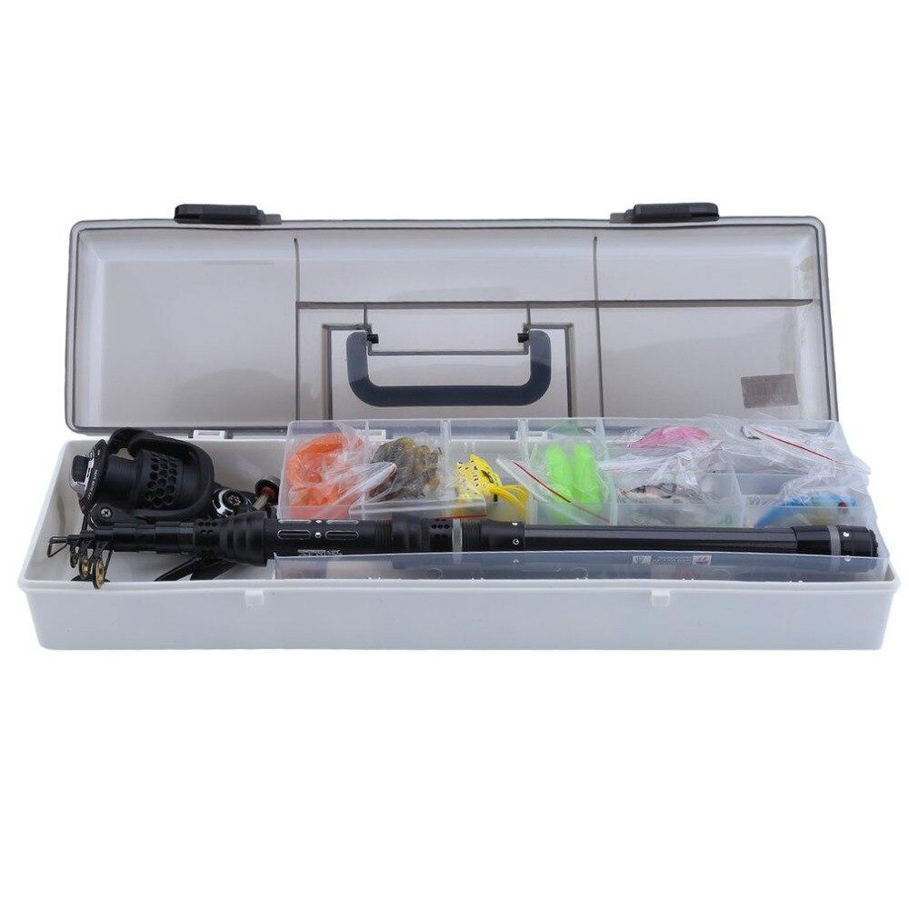 Telescopic Fishing Rod Kit With BKK2000 Fishing Reel Portable Fishing Tackle Kit Professional Fish Accessories