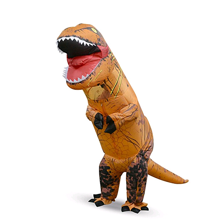 Kids Adult Jurrasic World Cosplay Costume Halloween Dinosaur Dress T-Rex Inflatable Suit For Halloween Carnival Christmas sets
