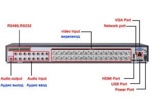 Image 4 - 5MP caméra de vidéosurveillance 5M N Audio Hi3531D H.265 + 32CH 32 canaux 6 en 1 Coaxial hybride NVR CVI TVI AHD DVR enregistreur vidéo de Surveillance
