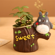 Kawaii Cartoon Sweet Cartoon Chinchilla Tree Truck Design Container Succulent Herb Plant Pot