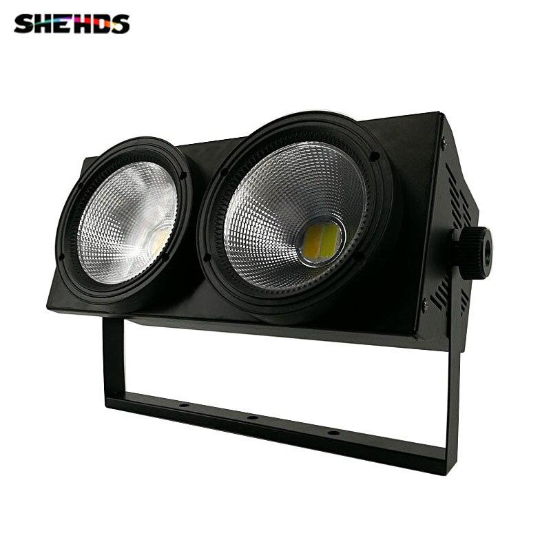LED COB 2 occhi 2x100 W Blinder Regolatore di Illuminazione DMX Effetto di Fase di Illuminazione DMX Club Show Notte DJ discoteca, SHEHDS Fase di Illuminazione