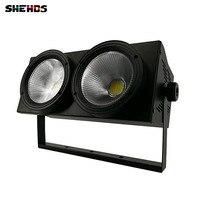 LED COB 2eyes 2x100W Blinder Lighting DMX Stage Lighting Effect DMX Controller Club Show Night DJ Disco,SHEHDS Stage Lighting