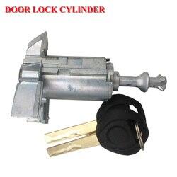 Dla BMW X5 Aluminium przednia lewa strona kierowcy cylinder zamka drzwi z kluczem wyłącznik zapłonu 51217035421