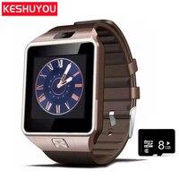 efbefe544a7 KESHU moda Homens relógio inteligente Bluetooth 2G Multilingue SIM TF Câmera  Android IOS smartwatch Relógio Chamada