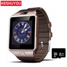 Keyou Smart karóra Bluetooth 2G Fashion Men smartwatch Többnyelvű SIM TF kamera Android IOS Call Hívás telefonhoz Samsung HUAWEI