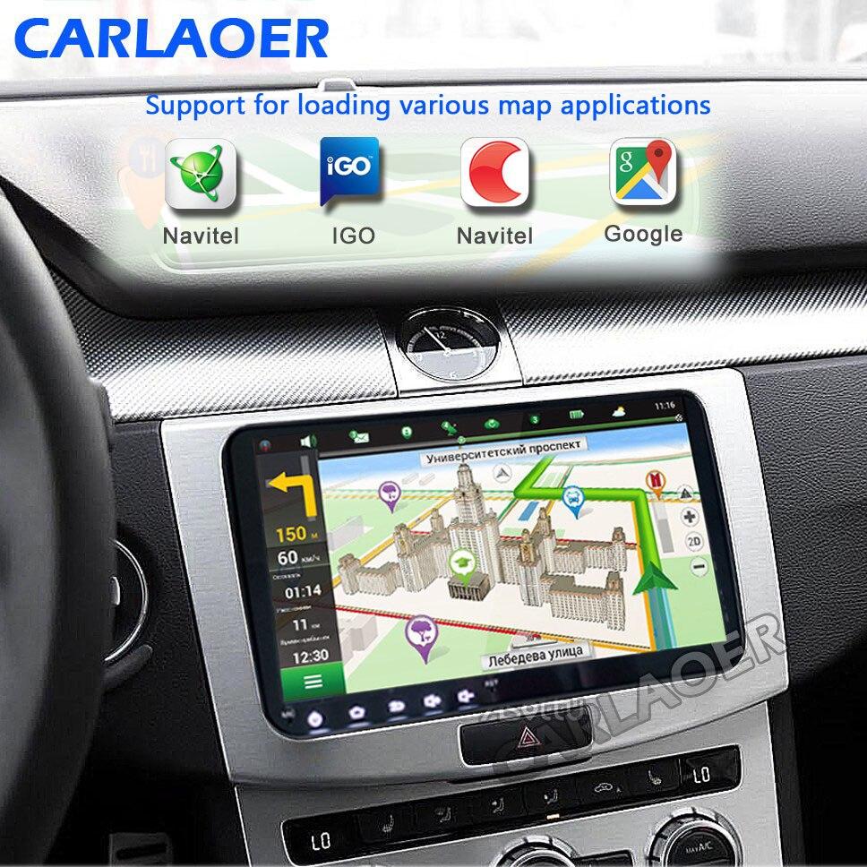 "Image 2 - 9 ""Android 8,1 автомобильный радиоприемник gps навигатор для Volkswagen Skoda Octavia golf 5 6 touran passat B6 polo tiguan yeti rapid multimedia-in Мультимедиаплеер для авто from Автомобили и мотоциклы on AliExpress"