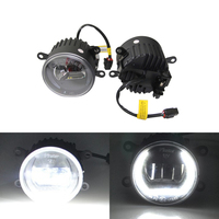 E4 E Mark Front Auto Led Fog Assembly Kits W/ Guide DRL Halo For Opel Astra H GTC Corsa D Zafira B Vectra C Astra G Meriva A