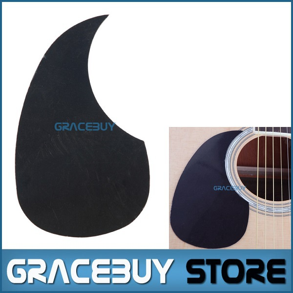 Lefty 40 41 42 Left Handed Acoustic Guitar Pickguard Pick Guard Sticker R64mm Plastic Black Color - A025G