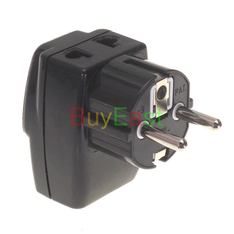 Free shipping Schuko Germany Korea France RussianTravel Adapter 3 Way Multi Outlet Convert AU/UK/US/EU....World Plug Black Color vip ticket 3 day pass world club dome korea 2018