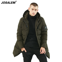 -30 Degree Thick Warm Men's Winter Long Coat Top Quality Brand Men Hooded Down Parkas New Black Man Jacket Outwear Clothing